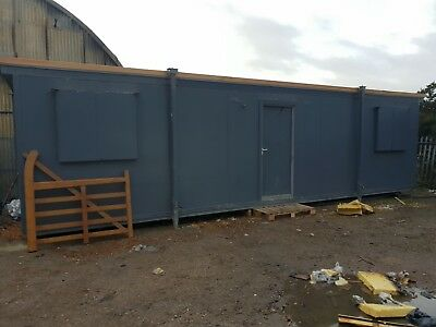 32ft x 10ft portacabin anti vandal shutters some fire damage see photos
