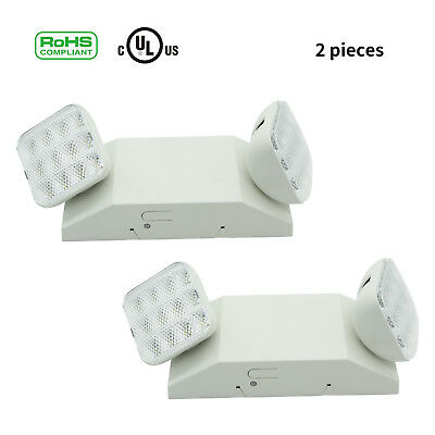2PC LED Ultra Bright Emergency Exit Light Adjustable Standard Round Head Indoor
