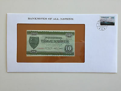 Banknotes of All Nations – The Faeroe Islands 10 Kronur UNC