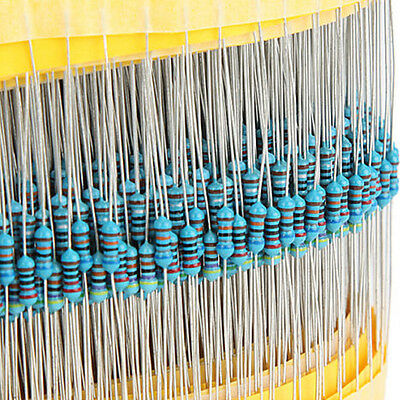 600pcs 30 Value 1/4W Resistance 1% Metal Film Resistor Assorted Kit Each 20pcs