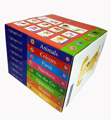 Alphaprints Animals Roger Priddy Collection Words Colours 8 Books Set Pack  NEW