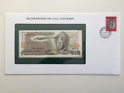 Banknotes of All Nations – Guatemala 1/2 half quetzal 1982 UNC
