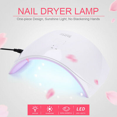 SUN9C 24W LED UV Lamp Nail Dryer Gel Polish Curing Lamp  Auto Timer AU Plug