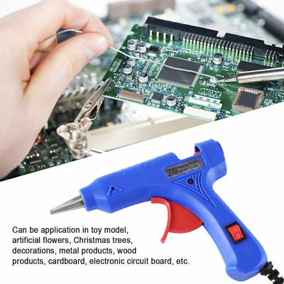 Professional Mini Electric Heating Hot Melt Glue Gun 20W 110-220V US Plug