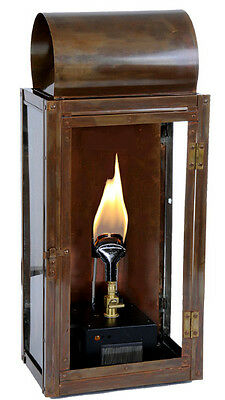 "20"" Copper Roll Top Lantern, Outdoor Lighting Fixture, Gas or Electric"