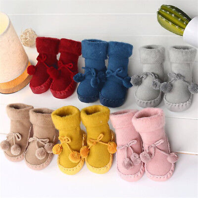 Winter Baby Boy Girl Socks Floor Socks Anti-Slip Thickened Baby Socks Warm Shoes