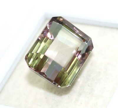 GGL Certified 21.80 Ct Charming Emerald Cut Color Changing Alexandrite Gemstone