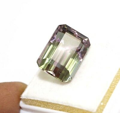 GGL Certified 18.70 Ct Charming Emerald Cut Color Changing Alexandrite Gemstone
