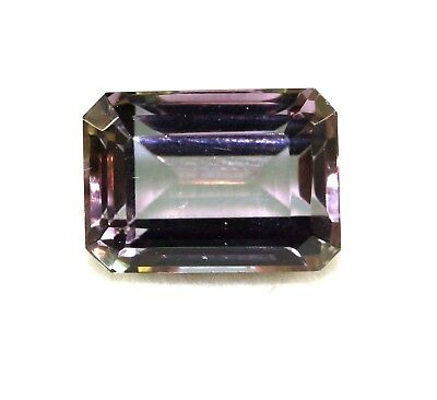 GGL Certified 12.80 Ct Charming Emerald Cut Color Changing Alexandrite Gemstone