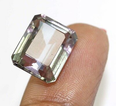 GGL Certified 10.60 Ct Charming Emerald Cut Color Changing Alexandrite Gemstone