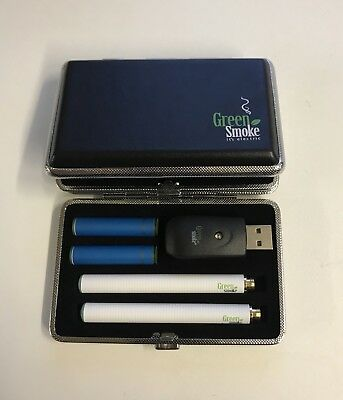 ((EShisha)) Smart leather case Electronic Rechargeable E-Cigarette Green Smoke