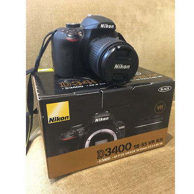 Nikon D3400 AF-P 18-55mm f3.5-5.6G VR Black Kit (Multi) stock from EU nuovo
