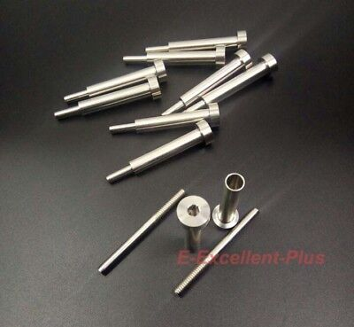 """10 Pcs T316 SS Invisible Receiver Swage Stud End Fitting for 3/16"""" Cable Railing"""