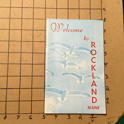 Vintage booklet -- WELCOM TO ROCKLAND MAINE -- UNDATED - 32PGS