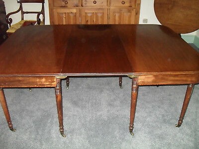 Georgian Mahogany D end Dining table with leaf