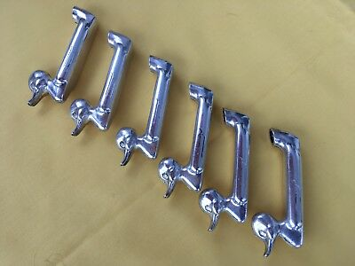 vintage french Silver Metal Duck Knife Rests.