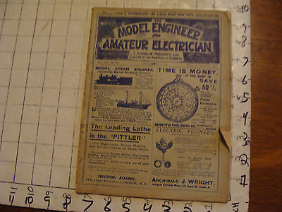 The Model Engineer and Amateur Electrician DEC. 15, 1902 issue; SCARCE MAGAZINE