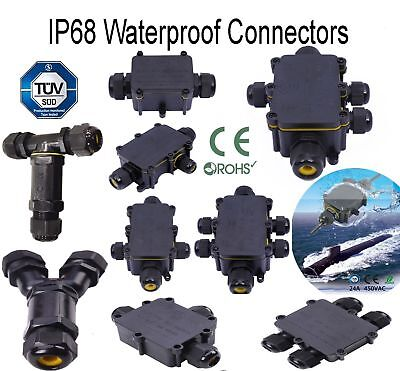 2 3 4 5 6 T H Way IP68 Waterproof Electrical Cable Wire Connector Junction Box