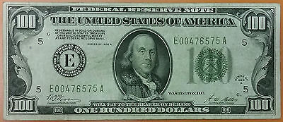 "1928-A RICHMOND ""E""$100 Bill REDEEMABLE IN GOLD CLAUSE Federal Reserve Note RARE"
