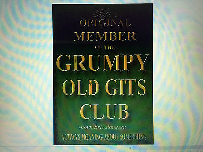 Grumpy old gits club advertising vintage retro signs repro wall art