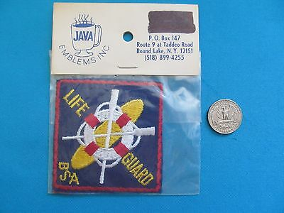 1 Vintage 70S Bsa Boy Girl Scouts Life Guard Rescue Mip Patch Crest Emblem