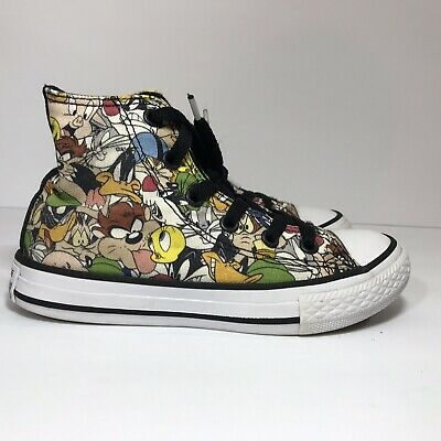 32b3c16a18f3 Converse Chuck Taylor All Star Looney Tunes Multi-Color Kids Youth Size 12