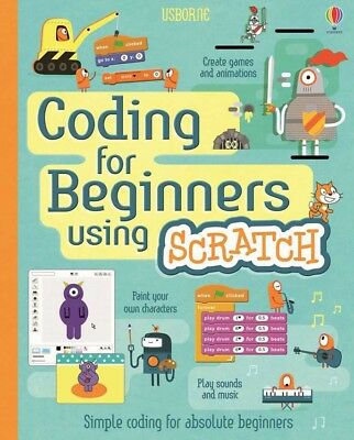 Usborne Coding For Beginners Using Scratch Book NEW