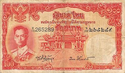 Thailand  100 Baht  1955  P 78d  Series  E/119  Sign. # 41 Circulated Banknote