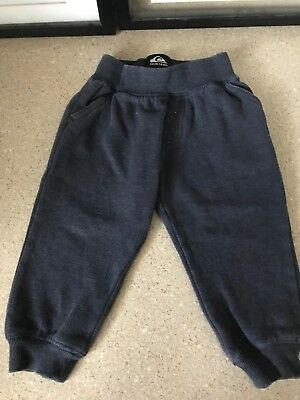 Quiksilver Boys 24 Months 2T Sweat Jogger Pants Euc Surf Blue