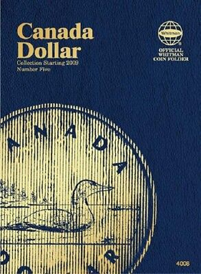 One Whitman Coin Folder 4008 Collection For Canadian Dollar Vol.5 Starting 2009