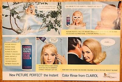 Vintage 1966 Hair Color Advertisement - 10 inches by 14 inches