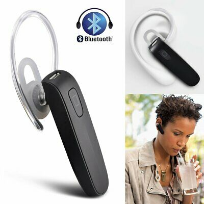 Bluetooth Headset Handsfree Wireless Earpiece Noise Reduction Earbud With Mic US