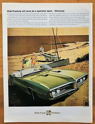 Vintage 1966 Pontiac OHC Sprint Advertisement - 10 inches by 14 inches