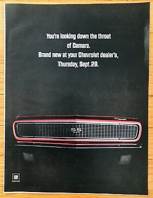 Vintage 1966 Camaro Advertisement - 10 inches by 14 inches