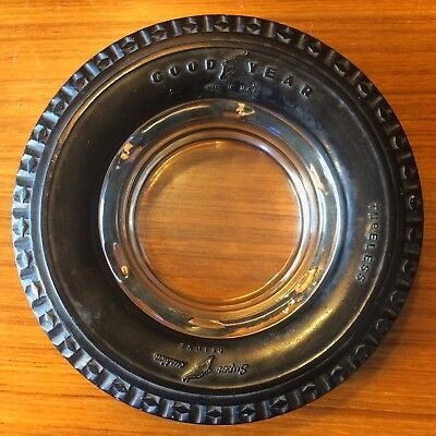 Vintage GOODYEAR Tubeless TIRE ASHTRAY Tires Advertising • Deluxe
