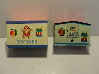 Colorful Tin Toy Mechanical Coin Bank***mint In Original Box***