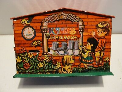 Colorful Kids Tin Toy Mechanical Coin Bank***mint In Original Box***