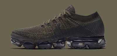 70ca8189a0 Nike Air Max VaporMax Flyknit CARGO KHAKI OLIVE GREEN BLACK ALL 849558-300  10.5
