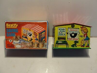 Colorful Beauty Tin Toy Mechanical Coin Bank***mint In Original Box***