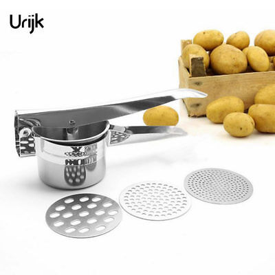 Stainless Steel Potato Press Masher Accessories Kitchen Tools Vegetable Mashers