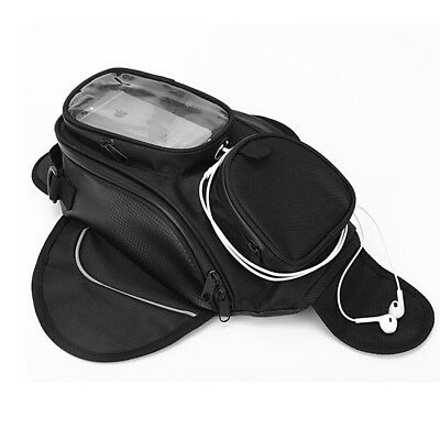 Dewtreetali Oil Fuel Tank Bag Magnetic Accessory Moto Window Bigger w/ saddle