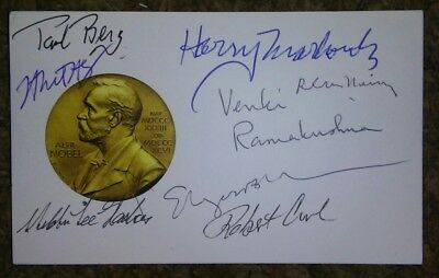 Nobel Prize Receivers Autographs