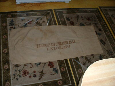 Vintage Farmers Co-Oprative Assn. Seed Or Feed Cloth Sack