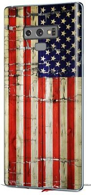 Skin for Samsung Galaxy Note 9 Painted Cracked USA American Flag