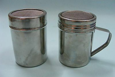 2Stainless Chocolat Shaker Icing Sugar Powder Flour Cacoa Coffee Sifter Strainer