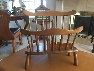 Vtg Mid Century R.veal & Sons Solid Blonde Maple Wood Chair Magazine Rack Stand