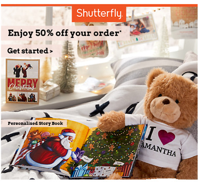 Shutterfly Coupon - 50% Off Your Order (KEC7 or PG62) - Exp 12/31