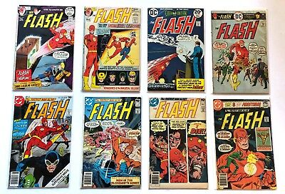 Lot of 8 FLASH Bronze Age Comics Bagged and Boarded! Must See!