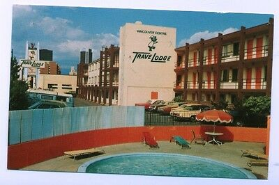 Vancouver Centre Travelodge Motel BC Canada Postcard