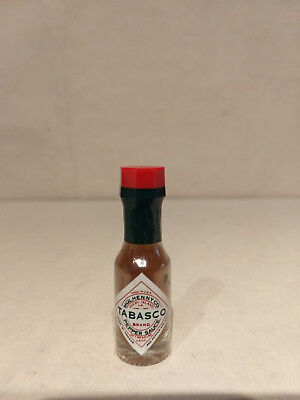 1/8 Oz TABASCO Sealed Pepper Saucer MINIATURE Real Glass Mini BOTTLE Brooklyn NY